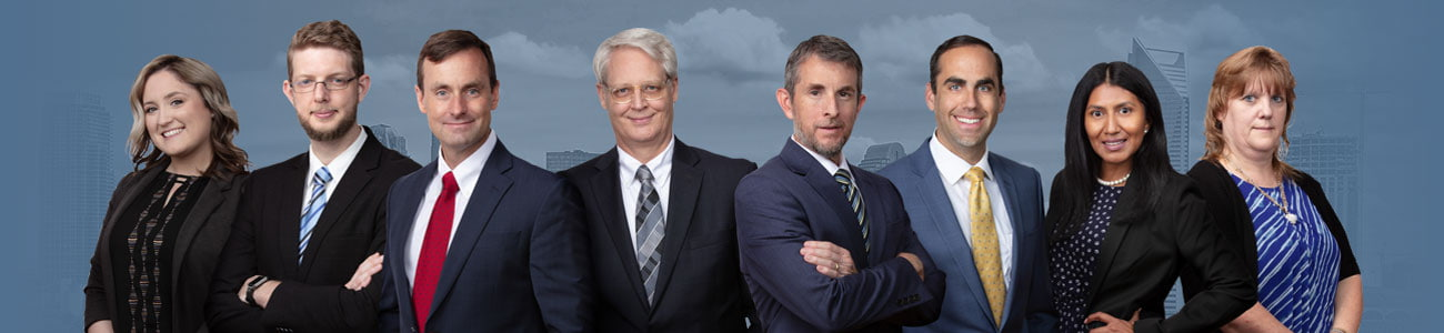 Attorneys over a city skyline